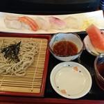松乃栄 - 寿司とそばのセット