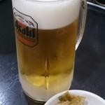 めんめん - 生ビール。