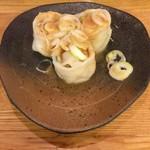 つけ麺屋 やすべえ - 特製水餃子(胡麻ダレ)