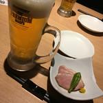 54412945 - 生ビール&お通し