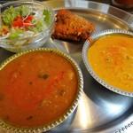 アヒリヤ - Bランチ(北インド)アルソヤビーン&チキンキーマ