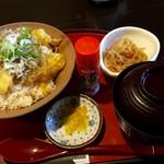 町家かふぇ - じゃこ天丼(2016.07現在)