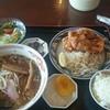 中華料理 盛龍 - 料理写真:唐揚げセット 味噌ラーメン