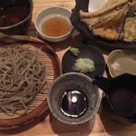 蕎房 猪口屋 - 穴子天ざる蕎麦@1600円