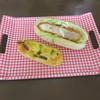 クリタパン - 料理写真:三元豚カツサンド&焼いも蒸しパン1