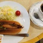 アポロ - 料理写真:ホットドッグセット(550円)