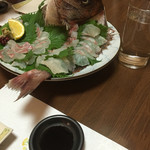 割烹てんぷら 天露 - 料理写真:予約の時に誕生日というと鯛がつきます!!