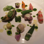 cucina Wada - 【16`8月】海の幸の盛り合わせ!綺麗!