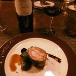 ル・ゴーシュ・セキ - ホロホロ鶏とオマール海老、赤グラス2種目16.7