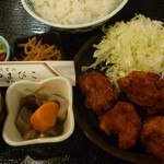 代官山 やまびこ - 地鶏唐揚げ定食 税込1000円