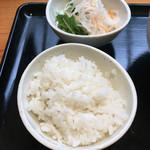 カレーうどん ひかり - 〆としてカレーのつゆをかけて食べました♪('16/08/06)