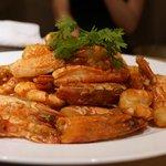 ミモザ - 大海老の素揚げ炒め