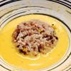 堂の浦 - 料理写真:チーズ替飯を雲丹スープに投入!