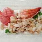発寒かねしげ鮮魚店 - 4種盛り 1080円