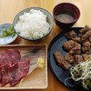鯨食堂 - 料理写真:【2016/8】鯨竜田揚定食+鯨刺身