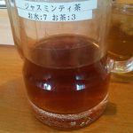 たかばしラーメン - 水に混ぜたら簡単にジャスミン茶になります。