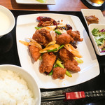54514218 - 鶏唐揚げの唐辛子炒め
