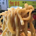 ラーメンつけ麺 笑福 - 麺 リフトアップ