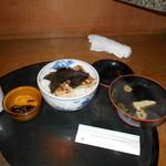 まるよし - 料理写真:穴子丼定食全景