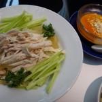 華都飯店 - ◎棒々鶏冷麺セット(1400円:税込) コレコレコレ、、これを頂きたくて・・^^