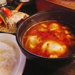 SOUP CURRY&HAMBURG 龍祈(TATSUKI) - ハンバーグカリー1350円 チーズトッピング190円