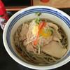 ねぎどん - 料理写真:冷やしとり肉そば(650円)辣油がよく合いました!
