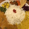 ポンガラカレー - 料理写真:スリランカプレート ¥1000 豆+サンバル