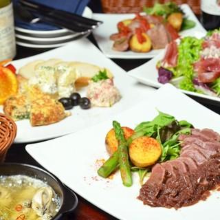 シェフ自慢の創作スペイン料理の数々