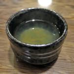 千束そば - 昆布茶