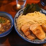 ラーメン みなもと屋 - みなもと濃厚魚介つけ麺:大盛り