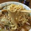 ひれかつの太閤  - 料理写真:麺は細麺ストレート 餡の野菜は、タケノコ、玉ねぎ、ピーマン、キャベツ、もやしでそこに、豚コマが入ってまーす。