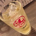 渋谷 桜丘 肉寿司 - ライムハイボール(390円)2016年7月