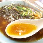 最北端 - スープは醤油強めだが、まろやかでなかなか旨い