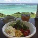 Cafe やぶさち - ランチはサラダ、ドリンク、スープバー付き