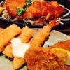 さんきち - 料理写真:生姜焼きにフライ三種 いか、えび、コロッケ