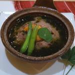 トゥ・ラ・ジョア - 真蛸と蓮根の陶板焼き