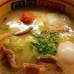 九州じゃんがららあめん - スープに具が沈下しており分かりずらい!!2016.8