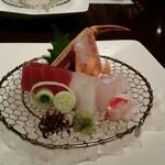 蟹工船 - お造りの蟹が甘くてびっくり