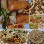 日華楼 - 松本の夜、晩ご飯は中華で乾杯〜=3=3=3 本格中華は久しぶり☆彡 時々食べたくなる♪ 3240円のコース(6品+デザート)で、6品に乾焼蝦仁(海老のチリソース煮)、麻婆豆腐、春捲を入れてもらう☆彡