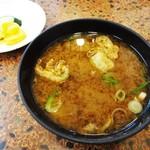 菊井かつ - 濃厚で 美味しい 味噌汁。