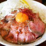 麺屋 福籠 - 料理写真:【2016年8月】ローストビーフ丼 850円