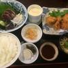 司 - 料理写真:鰹5切れ&一口カツの司定食(2016,6)