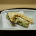 井雪 - 揚げ物(アスパラ・松茸)