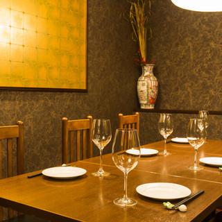 広いお席と個室もあり。大事な会食や記念日などに。