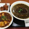 ダル金屋 - 料理写真:満腹セットを黒ごま坦々麺に変更しました。