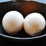 祇園きなな - きな粉の香ばしい味、香りがして、クリーミーな出来たての『きななアイス』~♪(^o^)丿