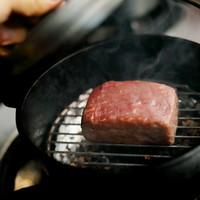 黒毛和牛モモ肉の瞬間燻製150g