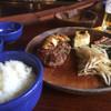 鉄板焼ステーキハウス jam - 料理写真:ランチBのハンバーグ150g&魚(グルクン)1300円