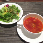 神戸風月堂 - 本日のスープ、サラダ