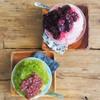 ウララ - 料理写真:ブルーベリーと宇治小豆